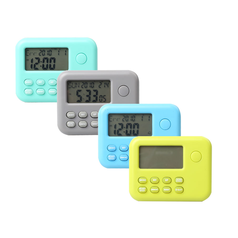 LCD Screen Digital Timer with Holder and backlight
