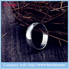 6mm glaze men ring 316 stainless steel rings jewelry gay o titanium ring