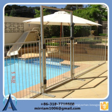 High quality hot dip galvanized portable swimming pool fence, plexiglass pool fence, Removable Pool Fence (direct Facotry)