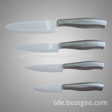 Ceramic Knives with Cool Stainless Steel Handle, 11-13 Degrees Edge Angle