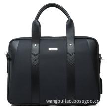 D. Blue Leather Laptop Bag Briefcase
