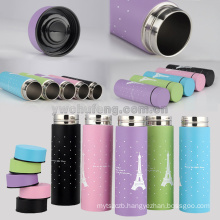 LOGO custom aceept cute gift small capacity bottle 300ml double layers stainless steel kids vacuum bottle