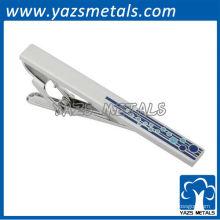 benutzerdefinierte Emaille Logo Krawatte Clips mit Silber Beschichtung