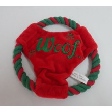 Red and green Frisbee toy