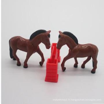 Jouets en plastique de cheval d'animal en plastique mignon de simulation élevée