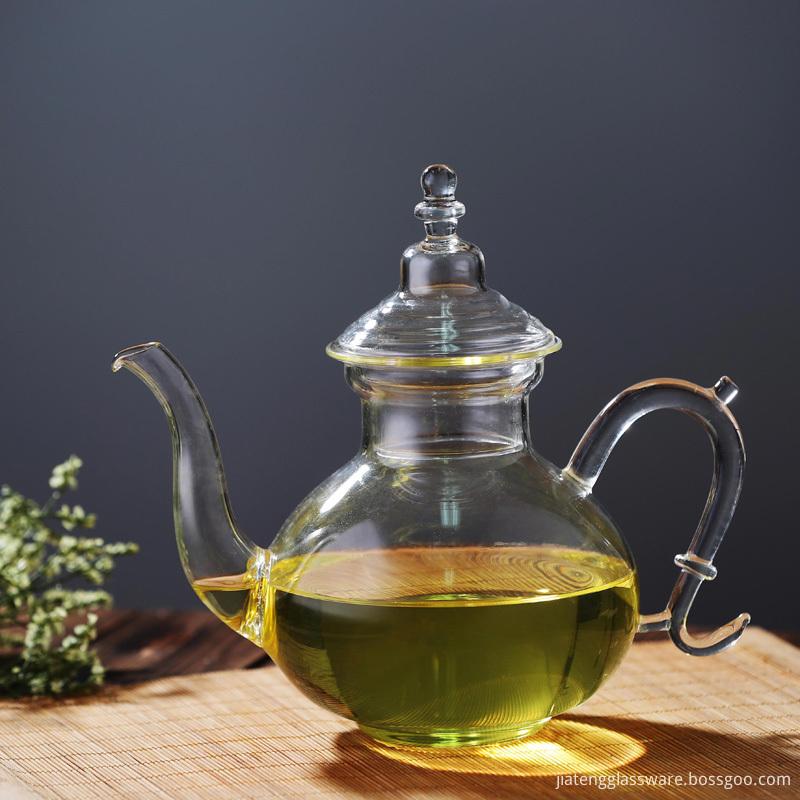Glass Teapot with Heat Resistant Borosilicate Glass Teapot Flowering Tea and Loose Leaf Tea