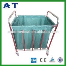 Beweglicher Metallrahmen medizinischer Trolley für schmutziges Leinen