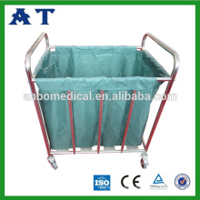 Stainless steel Quadrate cleaning hotel Linen Trolley housekeeping cart