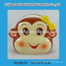 Support de serviette en céramique en forme de singe pour la cuisine