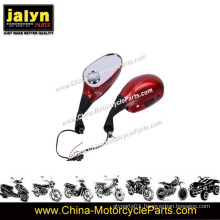 China Red Fashion Motorcycle Mirror with 8mm MP3