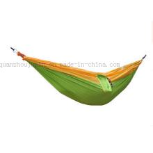 Нейлон парашютом Открытый кровать Кемпинг гамак с карманом