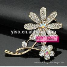 Design simples de ouro dois broches de flores