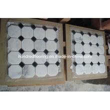 Carrelage en mosaïque de marbre blanc (HSM107)