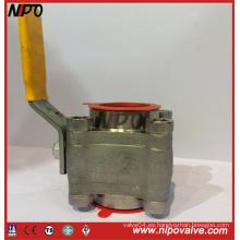 Válvula de bola flotante de extremo de rosca de acero forjado