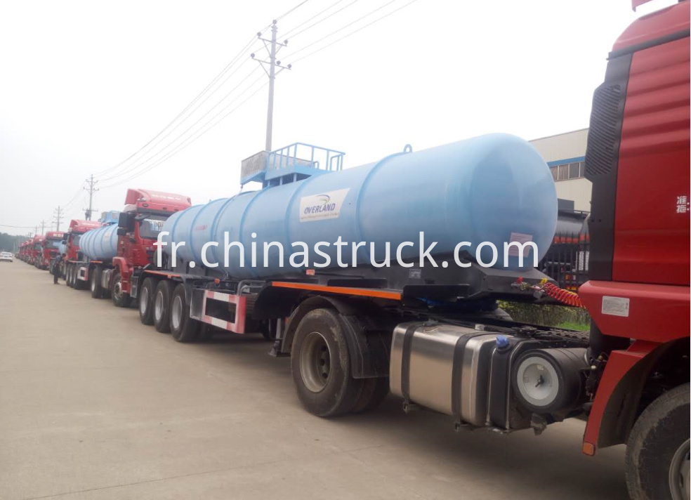 10 units V shape sulfuric acid tanker trailer export to Zambia market
