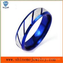 Shineme Schmuck zwischen Silber und blau Körper Schmuck Ring (SSR2775)