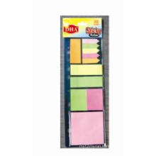 Various Size and 13 Colors on Black Card Sticky Note Pad Combination