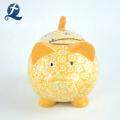 Wholesale Custom Printed Hand Made Cute Piggy Shape Ceramic Money Bank