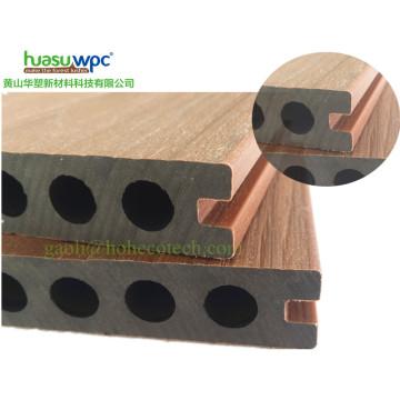 Tipo hueco Junta de madera WPC Co-Extrusión Decking