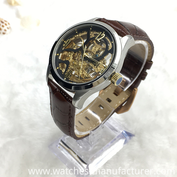 Classics Man Mechanical Skeleton Wrist Watch