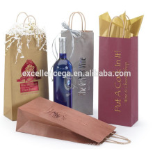 Bolsa de papel de la botella de vino real
