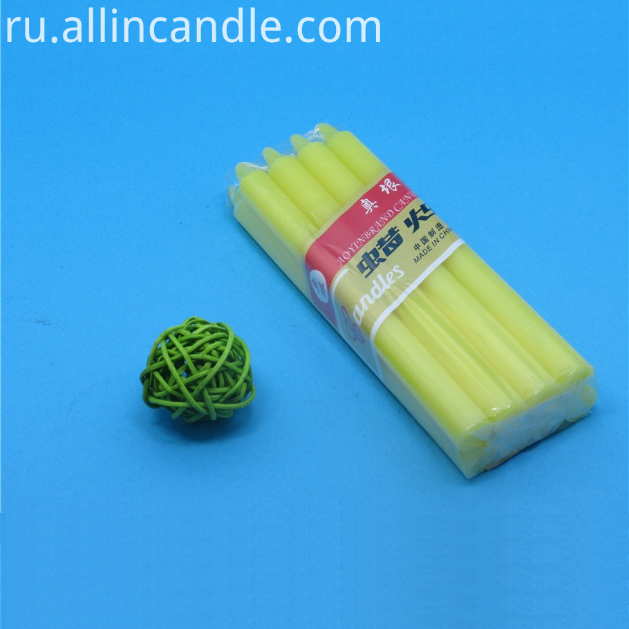 yellow votive candle