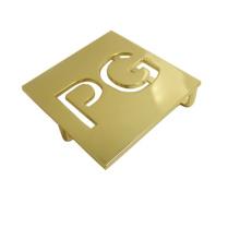 Gold Pg Custom Metal Buckle Logo/Belt Buckle