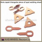 Auto repair triangular piece of spot welding sheet