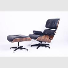 Confortável Eames Lounge Chair em couro de grão superior