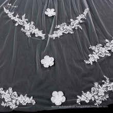 TA043 Hot Sale One Layer Lace Applique Bridal Veil