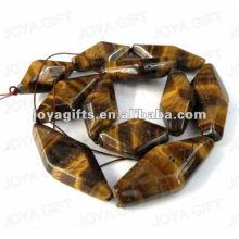 Perles de tigereye en forme de lasange