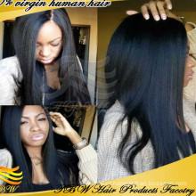 2015 nova vinda de alta qualidade italiano yaki peruca cheia do laço yaki peruca de cabelo humano para afro-americano