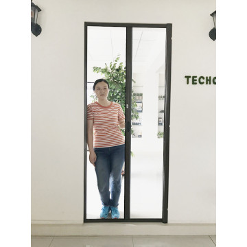 Roller Screen Door with Fiberglass Mesh Aluminum Track