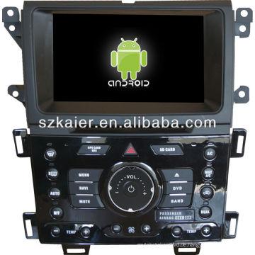 Android System Auto DVD-Player für FORD Edge mit GPS, Bluetooth, 3G, iPod, Spiele, Dual Zone, Lenkradsteuerung