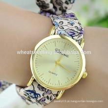 Senhoras amor elegante Genebra Alibaba China relógio pulseira tecido