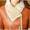 Зима настоящее пальто дубленки и шубы для дамы длинные Стиль