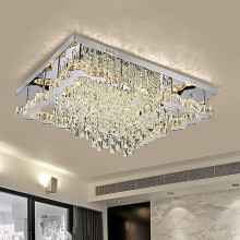 Hot Selling for China Modern Crystal Ceiling Light, Crystal Modern Light, Modern Hanging Light Manufacturer and Supplier LED square chandeliers ceiling lights chandelier lighting supply to India Suppliers