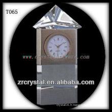 Magnifique horloge en cristal K9 T065