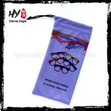 Logo imprimé à bas prix en microfibre étui souple, sublimation impression sacs de soleil sacs souple, sublimé sac imprimé pour lunettes