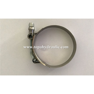 T bolt stainless steel hose fittings clamp
