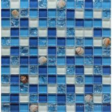 Gebrochene Glas mit Shell Mosaik