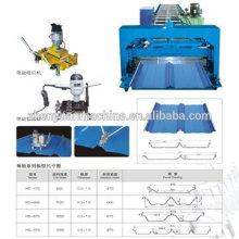 Совместное скрытое устройство для формирования панелей крыши / машина для изготовления машины / роликовый рулон