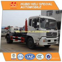 Dongfeng 4x2 190hp 10CBM gancho brazo basura camión de buena calidad para la venta En China