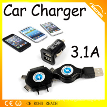 Hot Design Extensível Car Charger Adapter USB