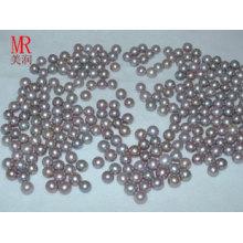 6-7mm perlas de perlas de agua dulce redonda de lavanda