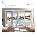 Balcón de vidrio sellado herméticamente diseño de puerta de aluminio deslizante