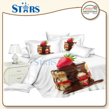 GS-FM3DCD-07 cake printed 3d fabric china supplier for bed set