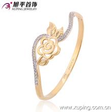 Nova Moda Multicolor Bracelete de flor elegante com zircão