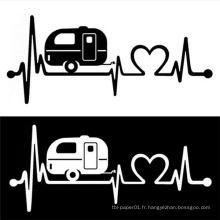 Conception faite sur commande d'autocollant de corps de voiture de décalques de voiture de vinyle de conception d'électrocardiogramme