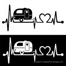 Electrocardiogram Design Vinyl Car Decals Custom Car Body Sticker Design